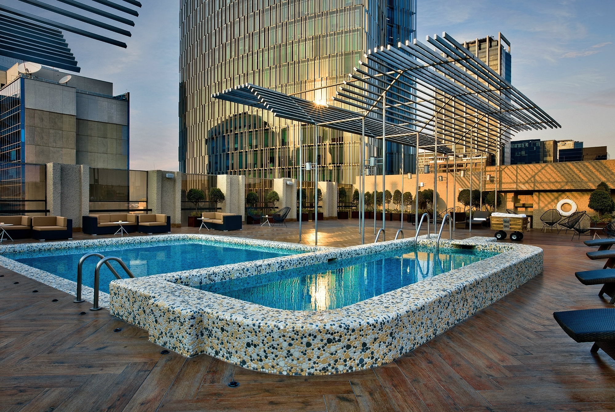Pool at Galeria Plaza Reforma Hotel